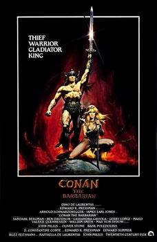 Conan the Barbarian 1982 film poster