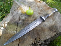Elegant damascus dagger of ages 20 extra ouchiness by hellize-d6czuws