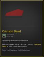 Crimson beret desc