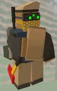 Player holding MRE