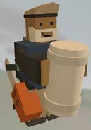 Player holding White Bedroll