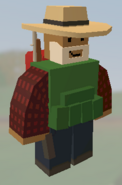 Player wearing Farmer Hat