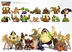 Team Chman's characters