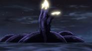 Ayakashi being defeated