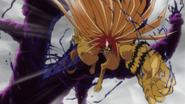 Tora attacking the demon