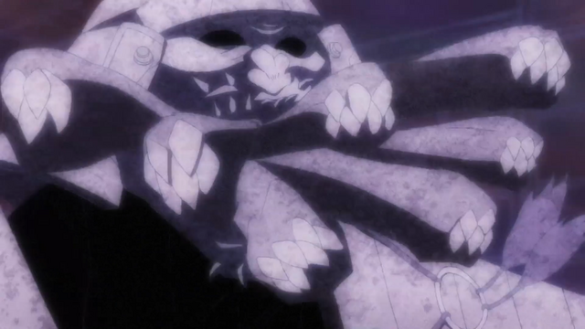 File:Episode 2 - Ishikui creates rock snakes out of its mouth.png