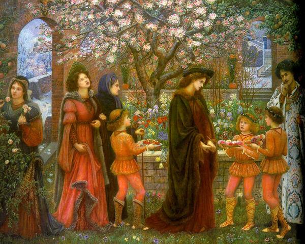 File:The Enchanted Garden of Messer Ansaldo by Marie Spartali Stillman (1889).jpg
