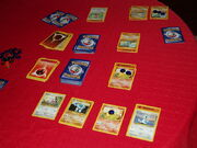 Pokemon card game in progress