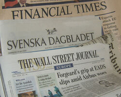 Newspapers FT SvD IHT WSJ