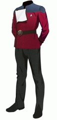 Uniform dress red wo