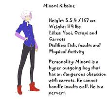 Minani kikaine concept with info