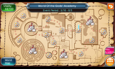 World of the Gods Academy map