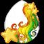 Celestial Rainbow Heraldic Unicorn Egg