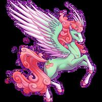 Mint Cupcake Swirl Pegasus