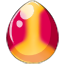 Peach Melba Unicorn Egg