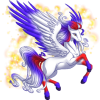 Red and Blue Pegasus