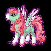 Mint Cupcake Swirl Pegasus Baby