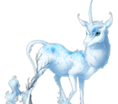 Snowy Solitude Heraldic Unicorn