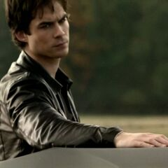 Damon looking at Elena (who is not in the picture).