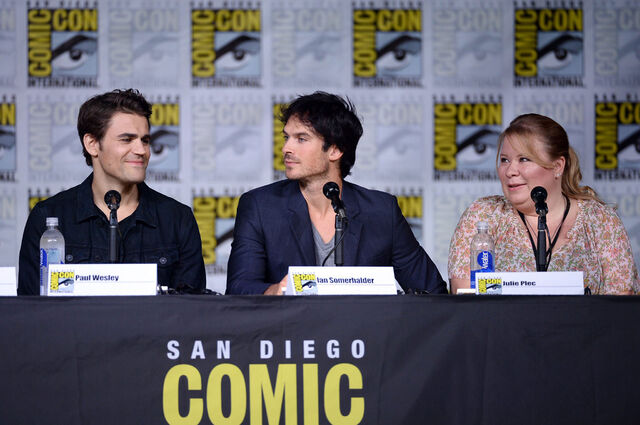 File:2016-07-23 SDCC Panel Paul Wesley Ian Somerhalder Julie Plec.jpg