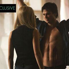 Rebekah torturing Damon