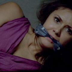 Amara in Damon's trunk