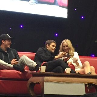 Michael Trevino, Paul Wesley, Candice Accola