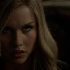 When Esther possesses Rebekah and stares at Klaus.