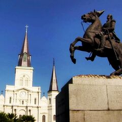 Jackson statue and Saint Louis Cathedral