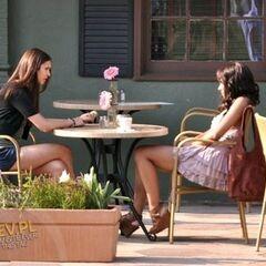 Katherine pretending to be Elena in Season Three