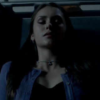 Elena in transition to become a vampire