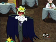 Count Spankulot is choking because is...Garlic