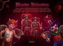 Bloody Valentine Sale promo