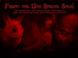 Friday the 13th Sale (April 2012) promo