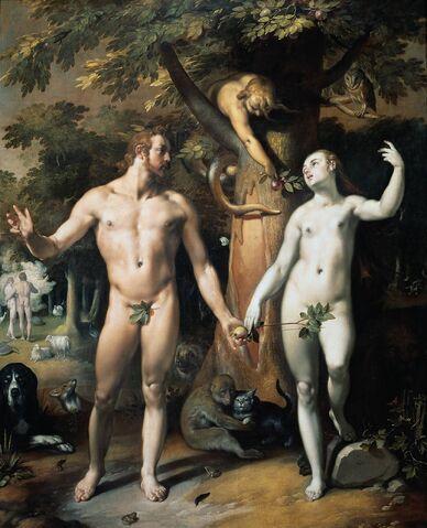 File:Cornelis van Haarlem - De zondeval.jpg