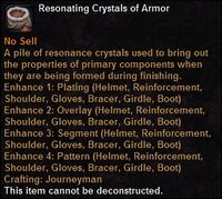 Resonating crystals armor