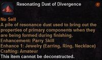 Resonating dust divergence