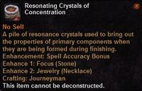 Resonating crystals concentration