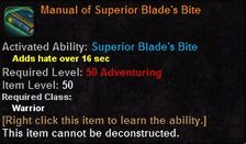 Manual of superior blades bite