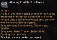 Attuning crystals brilliance