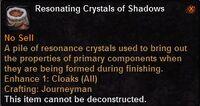 Resonating crystals shadows