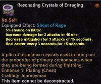 Resonating crystals enraging