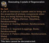 Resonating crystals regeneration