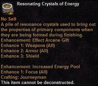 Resonating crystals energy