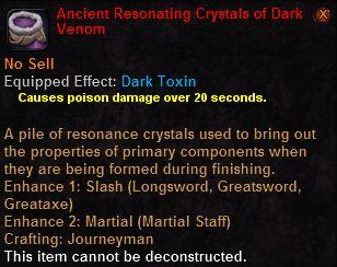 Ancient resonating crystals dark venon