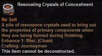 Resonating crystals concealment