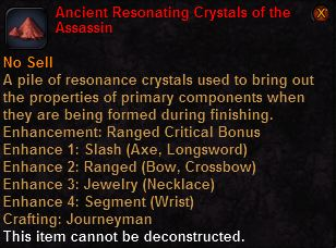 Ancient resonating crystals the assassin