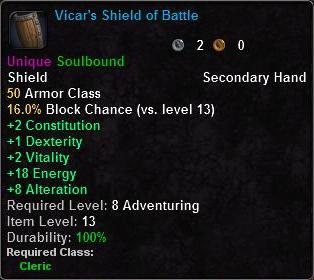Vicar's Shield of Battle