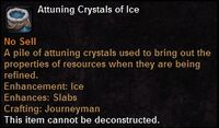 Attuning crystals ice