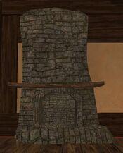 Medium sandstone thestra fireplace
